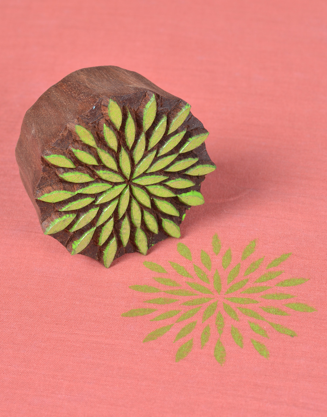 Printing Blocks for Fabric Round Floral Designs