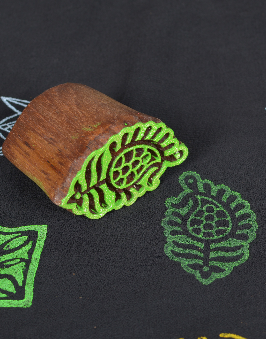 Wooden Fabric Stamps Butterfly Prints