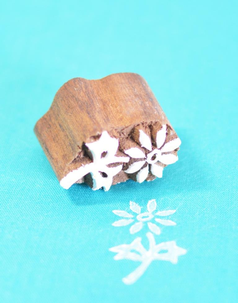 Floral Wooden Block for Printing